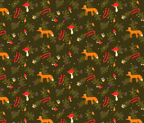 Fall forest fabric by yopixart on Spoonflower - custom fabric