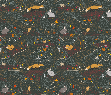 Rustling Woods fabric by little_luck_designs on Spoonflower - custom fabric