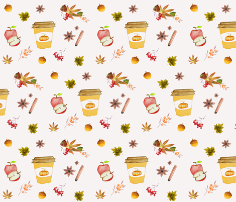 Pumpkin Spice-Rustic Fall fabric by calaismcneely on Spoonflower - custom fabric