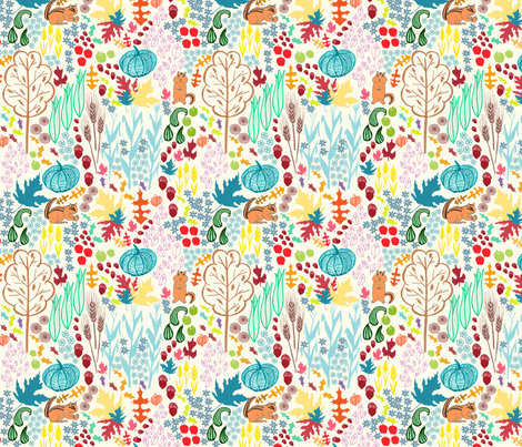 Autumn Whimsy fabric by palifino on Spoonflower - custom fabric