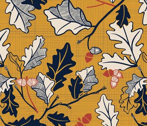 Falling Leaves fabric by blairwhite712 on Spoonflower - custom fabric