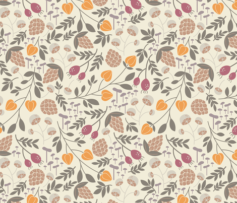 Cozy Fall fabric by laveroniquedesign on Spoonflower - custom fabric