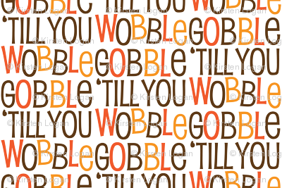 Gobble Till You Wobble Cute Funny Holiday Thanksgiving Holiday Pattern