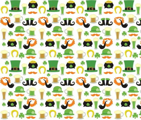 Saint Patricks Pattern fabric by khaus on Spoonflower - custom fabric