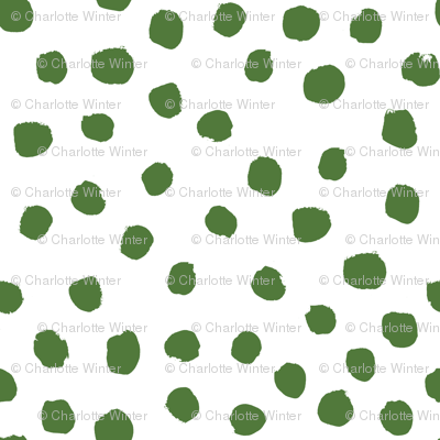 green dots fabric