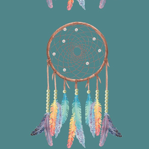 Gypsy Dreamcatcher on Teal
