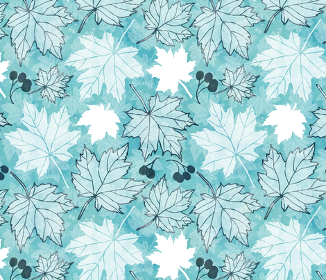 Autumn leaves fabric by adenaj on Spoonflower - custom fabric