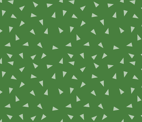 triangles fabric - green fabric by charlottewinter on Spoonflower - custom fabric