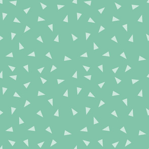 triangles fabric - green