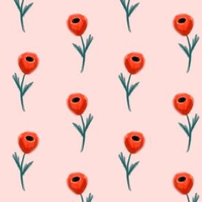 poppy fabric - pink
