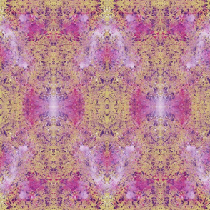 Abstract Pattern- pink, puple, yellow and white
