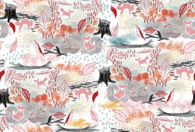 Foxy Fall In Watercolor