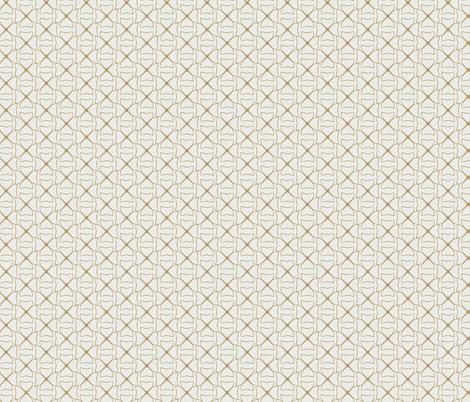 Gold-on-Cream-Clovers fabric by brandilyn_wycoff on Spoonflower - custom fabric