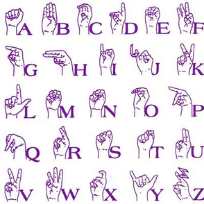 Sign Language Alphabet // Violet