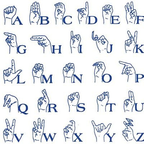 Sign Language Alphabet // Blue