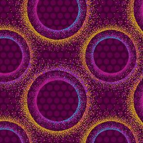 Mod Dots Pointillism - Magenta