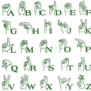Sign Language Alphabet // Green