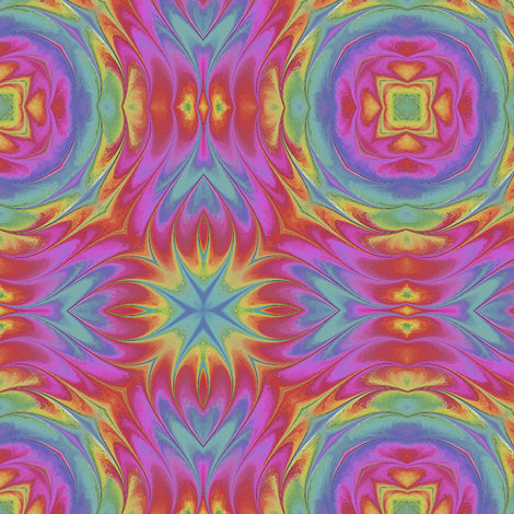 Painted_Rainbow_Pat3b fabric by karwilbedesigns on Spoonflower - custom fabric