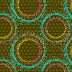 Mod Dots Pointillism - Olive
