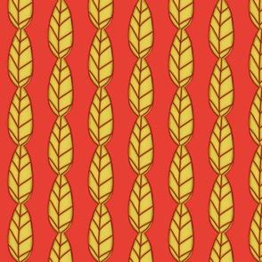 Fall Fave  -  Salmon Leaf Stripe