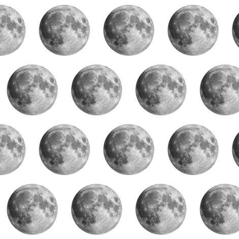 Moons on White fabric by thinlinetextiles on Spoonflower - custom fabric
