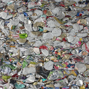 crushed cans from Maine's recycling stream