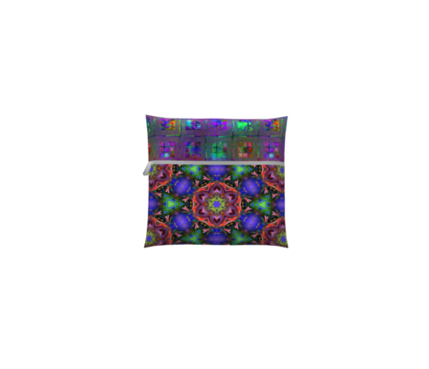 MANDALA FLOWER HEXAGON GEOMETRY CORAL PURPLE