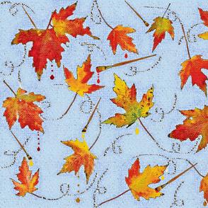 Painted Autumn Splendors blue sky
