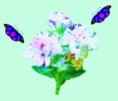 Bouquets & Butterflies fabric by b2b on Spoonflower - custom fabric