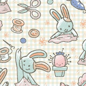 Sewing Bunnies Mint
