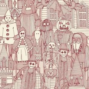 vintage halloween claret ivory