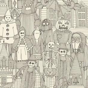 vintage halloween drab ivory