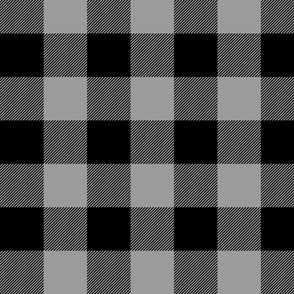 Big Buffalo Plaid - black and Grey- Check