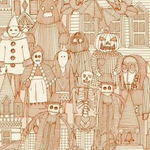 vintage halloween rust ivory