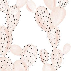blush paddle cactus // oversized