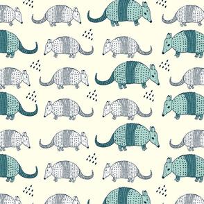 Cute armadillo pattern