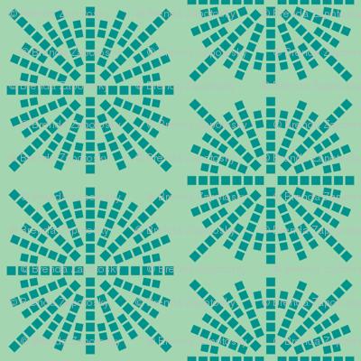 Confetti Bursts (Sea Foam and Teal)