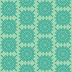 Confetti Bursts (Sea Foam and Teal)