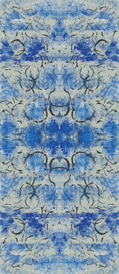 Abstract Pattern- blue and black with white accents