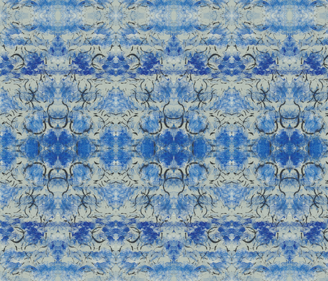 Abstract Pattern- blue and black with white accents fabric by designwhat on Spoonflower - custom fabric