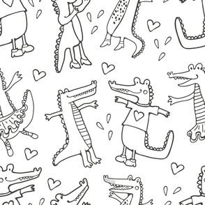 Crocodiles pattern