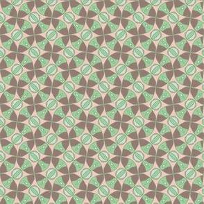 green and brown circles