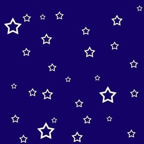 Upright Stars - Blue