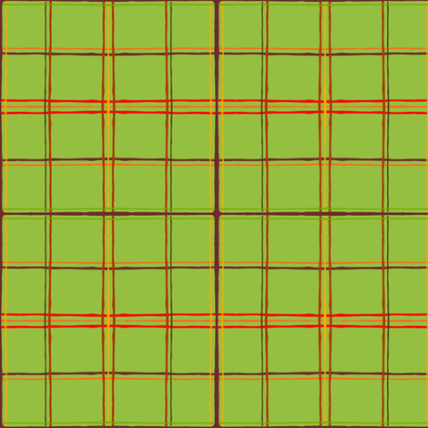 Fall Faves - Green plaid  fabric by franbail on Spoonflower - custom fabric