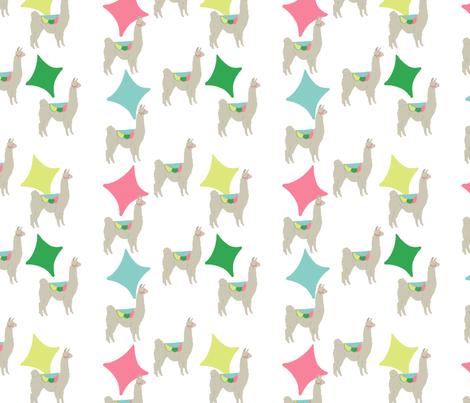 Diamond llama fabric by lillianburns on Spoonflower - custom fabric