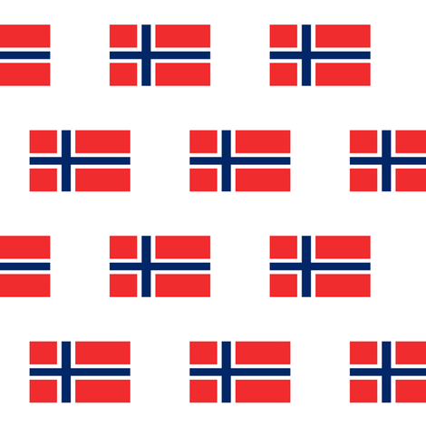 Norwegian Flag // Small  fabric by thinlinetextiles on Spoonflower - custom fabric