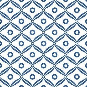 Talavera - Rounded Diamonds - Blue/White