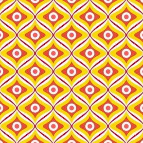 Talavera - Rounded Diamonds - Red/Yellow