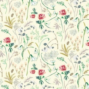 Enchanted floral SMALL ( cream)