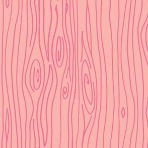 Wonky Woodgrain - Pinks